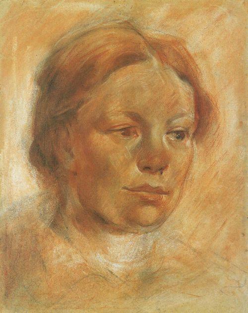 Franz_Marc,_Mädchenkopf_(Bildnis_Maria_Franck),_1906