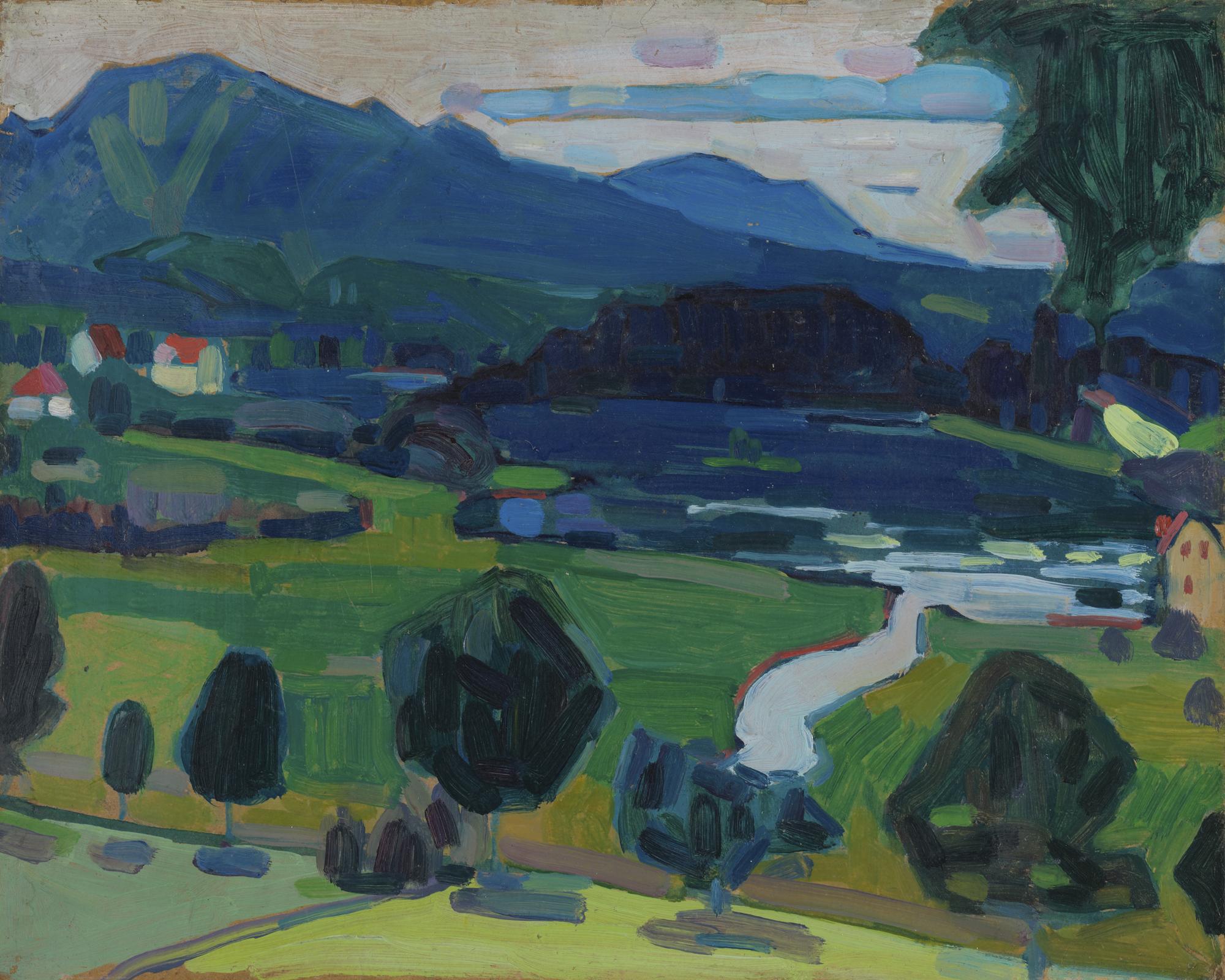 Murnau-Blick über den Staffelsee_Sommer 1908