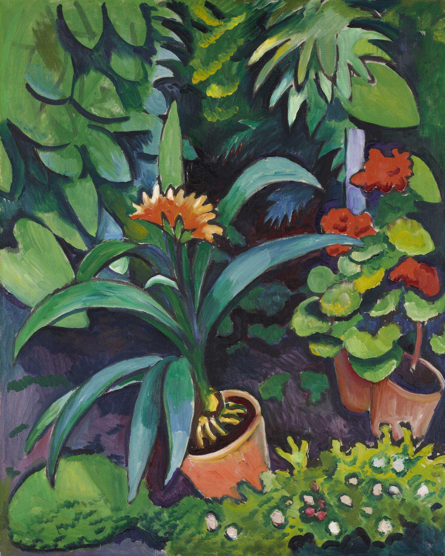 Blumen im Garten_1911